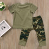 Daddy's boy Baby Camo Outfit Set With T-Shirt, Pants