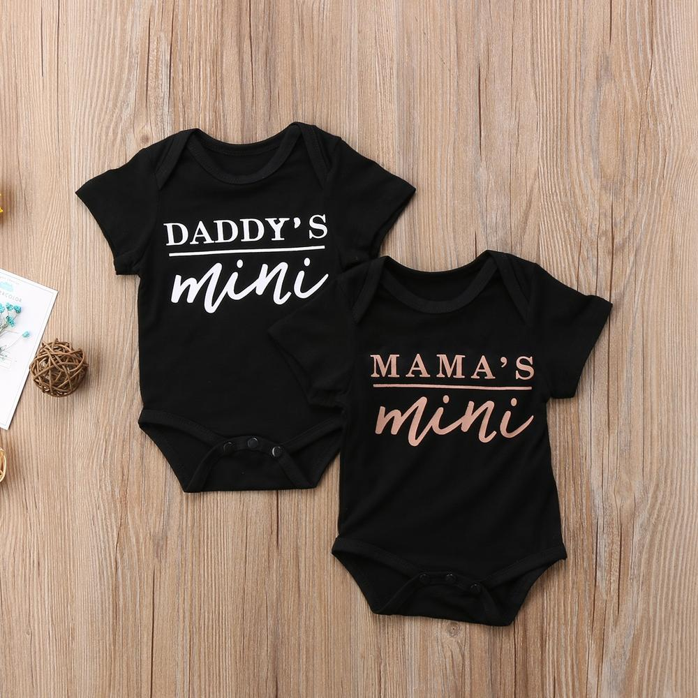 Daddy's Mini Black Bodysuit For Baby & Toddler