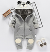 Fall  Winter 2018 Grey Hooded Romper For Baby 6M-24M