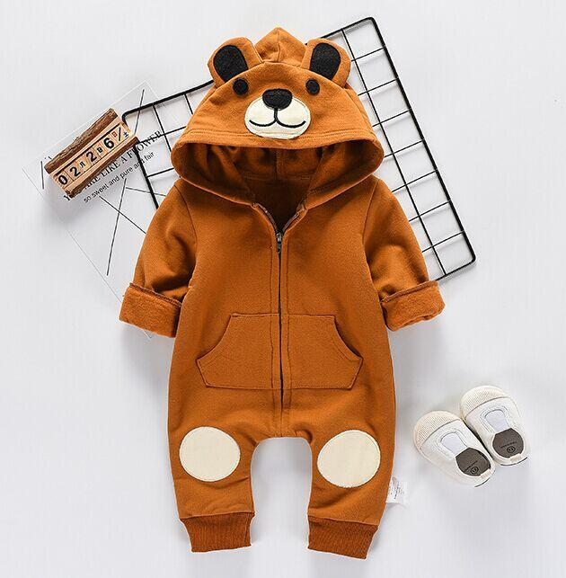 Fall Winter 2018 Cotton Hooded Romper For Baby 6M-24M