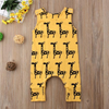 Giraffe Yellow Sleeveless Baby Romper
