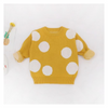 Girls' Yellow Polka Dot Cotton Sweater