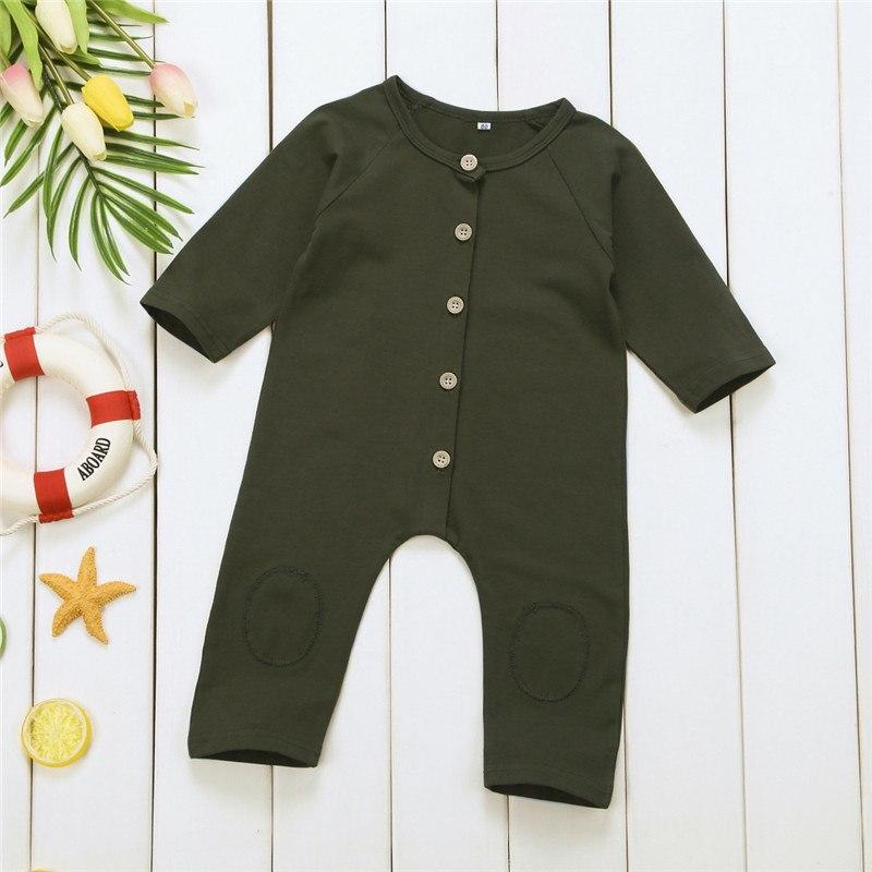 Green Cotton Baby Romper