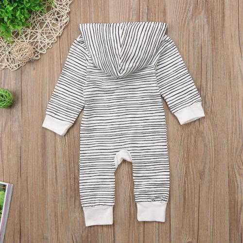 Infant Baby Boys Long Sleeve Striped Playsuit