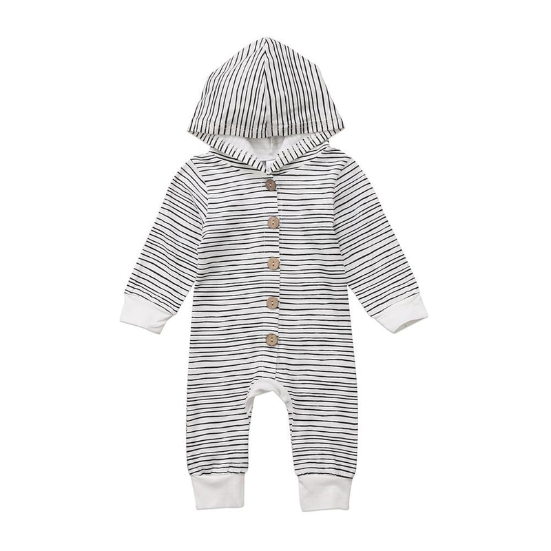 Infant Baby Boys Long Sleeve Striped Romper