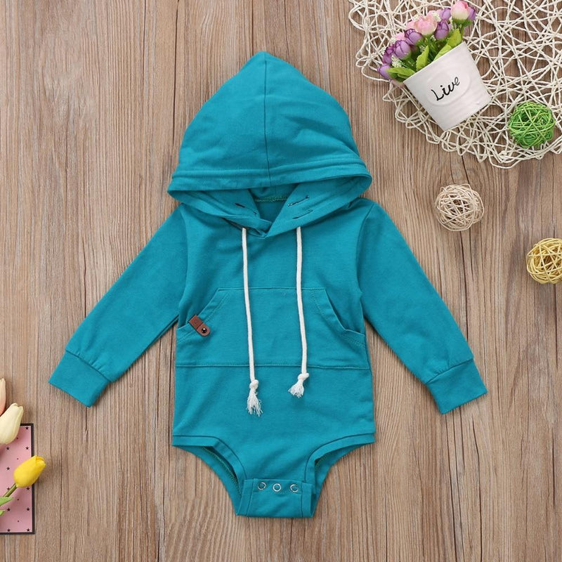 Infant Baby Long-Sleeve Rabbit Ears Hoodie - blue green
