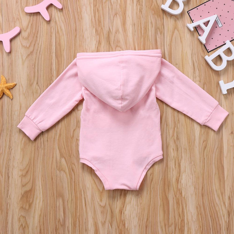 Infant Baby Long-Sleeve Rabbit Ears Hoodie - pink