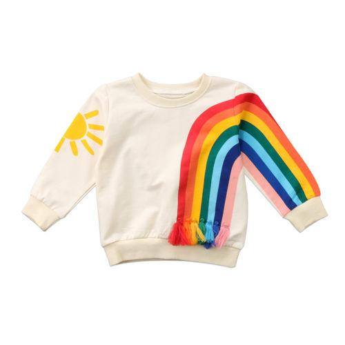 Kids Rainbow Long Sleeve Shirt Sweatshirt