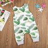 Sleeveless Banana Leaf & Frogs Baby Jumpsuit