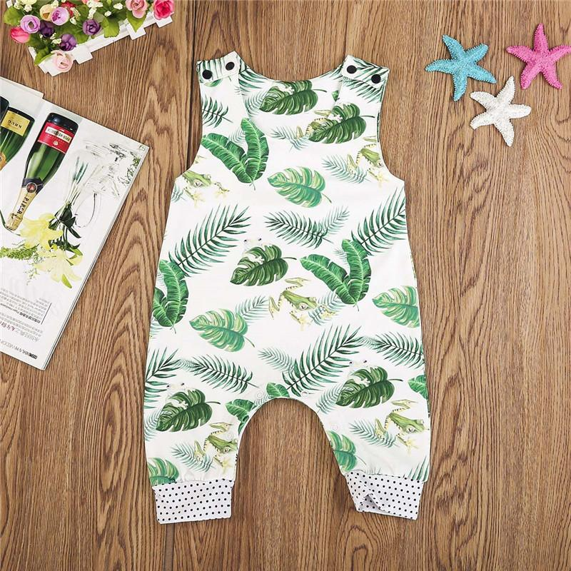 Sleeveless Banana Leaves & Froggies Romper, Baby & Toddler