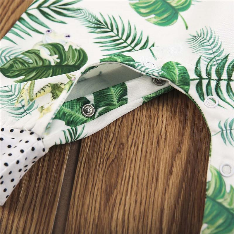 Banana Leaf & Froggies Tropical Baby Romper
