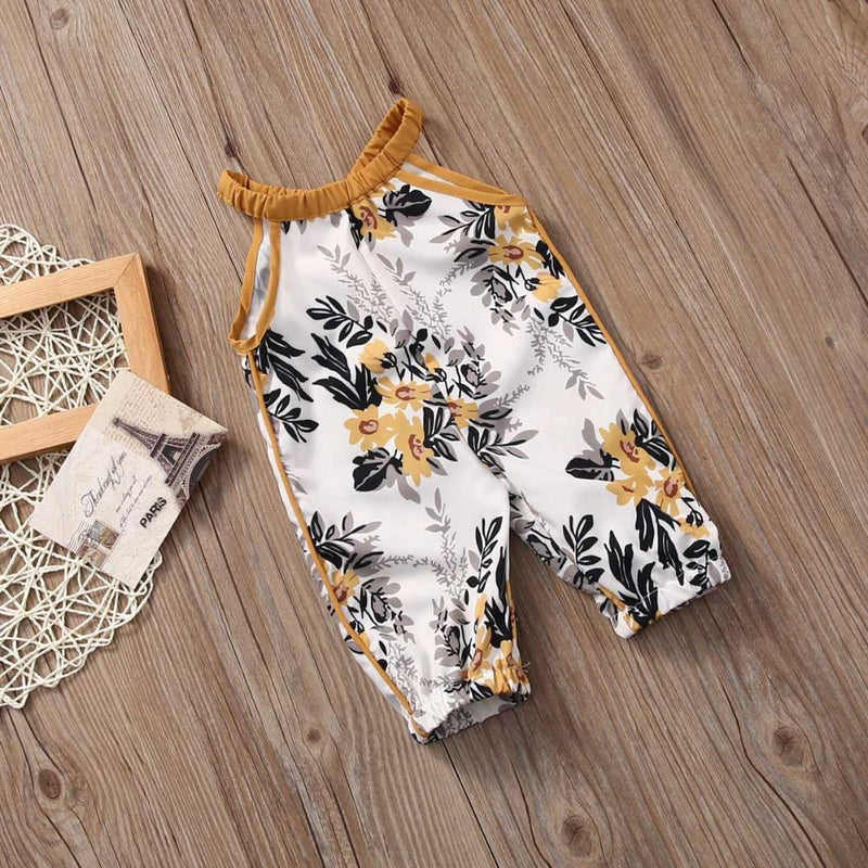 Sleeveless Floral Jumpsuit for baby girl