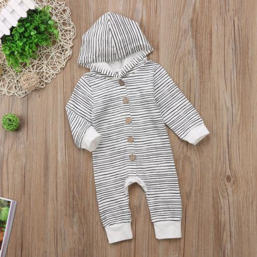 Toddler Baby Boy Long Sleeve Striped Jumpsuit