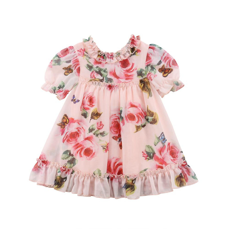 Toddler Girl's Floral Short-Sleeve A-line Dress