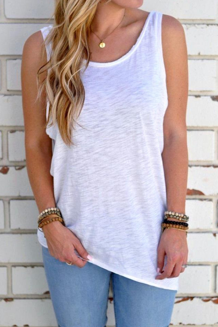 Women's Open Back Knotted Tank