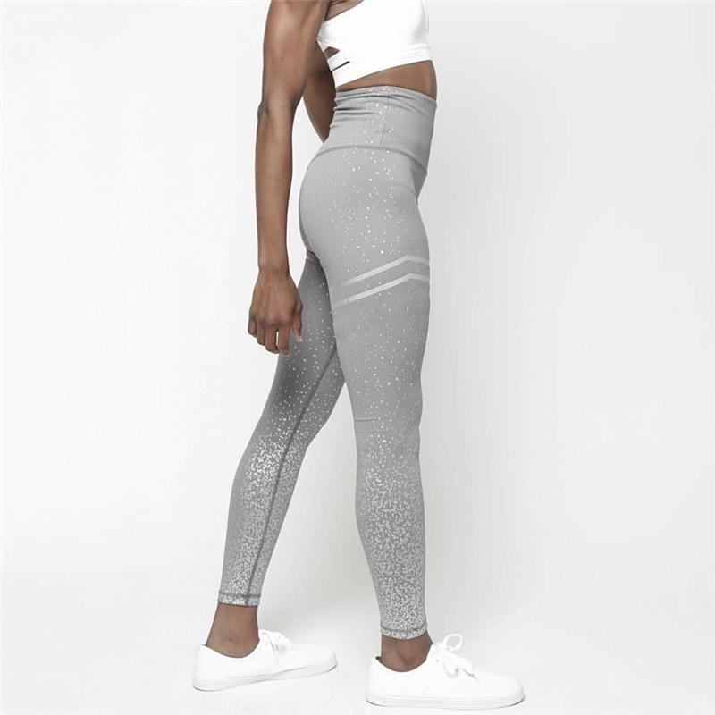 Women's Shimmer High Rise Active Leggings - grey 2