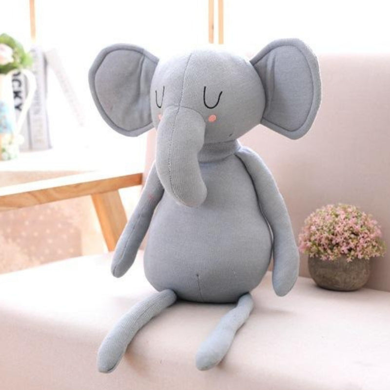Large Elephants Plush & Baby Pillow