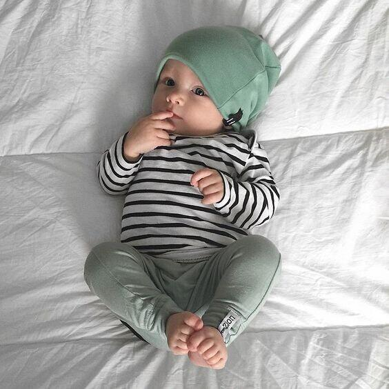 long sleeve shirt with stripes for baby boy