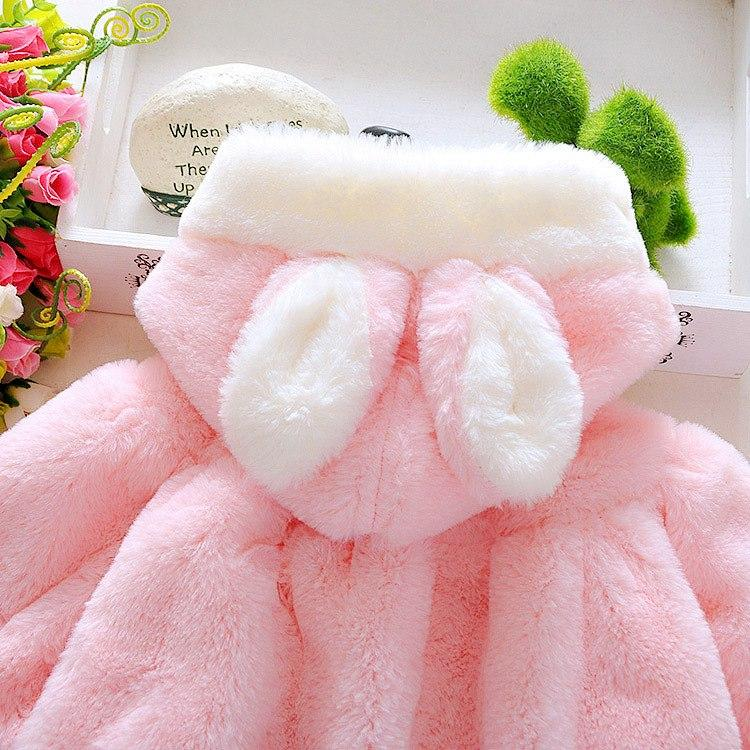 plush bunny ear baby coat