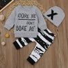 Cute Toddler Boy Outfit Set, Sweatshirt, Pant And Hat