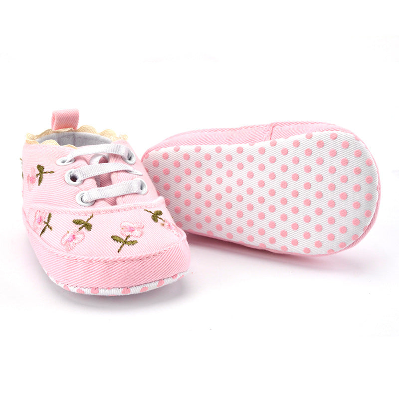 Baby Floral Soft Sole First Walker Shoes