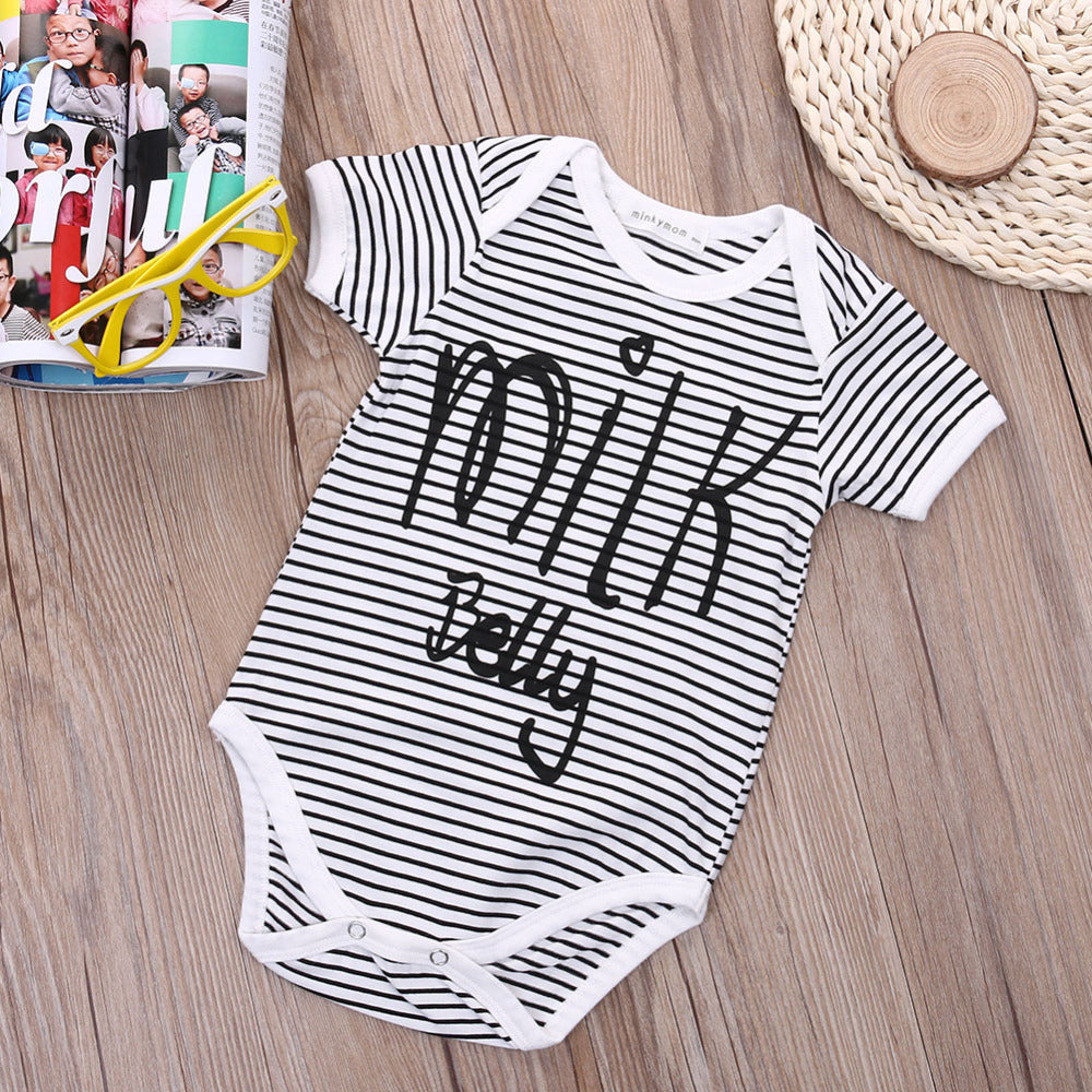 Striped Milk Belly Baby Bodysuit