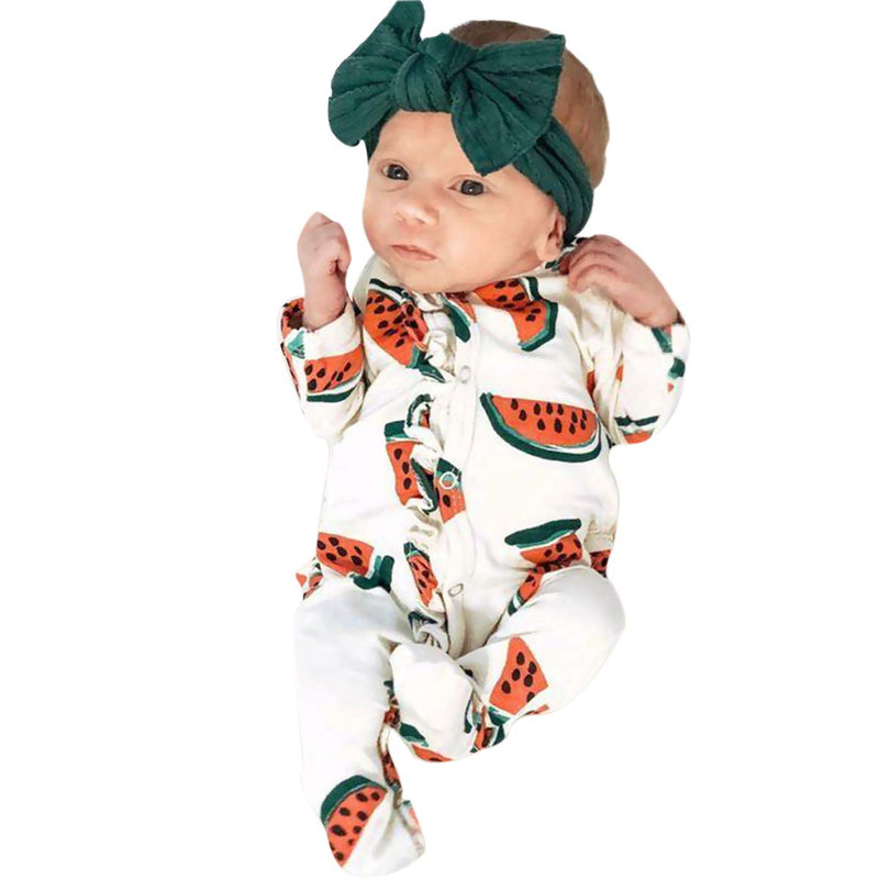 Baby Boy/Girl Fruit Long Sleeve Onesie