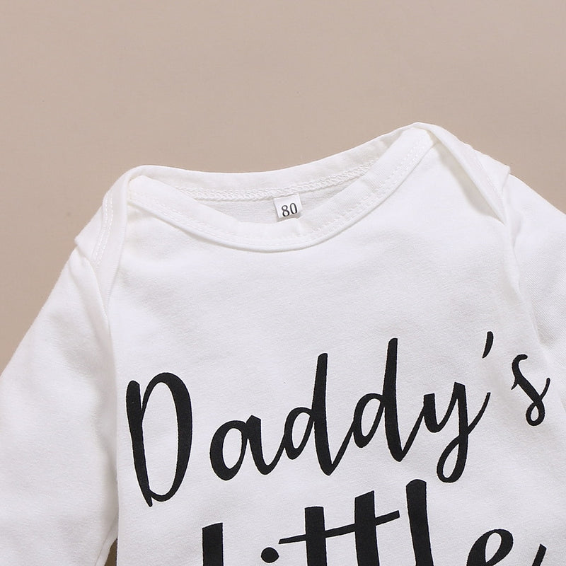 4-Pcs Baby Girl's Floral 'Daddy's Little Girl' Outfit
