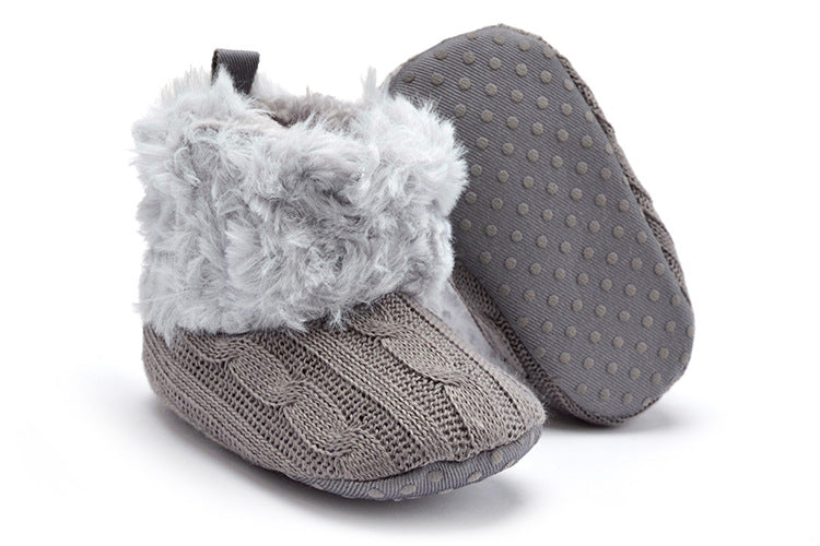 Baby's Knitted Warm Fleece Winter Boots