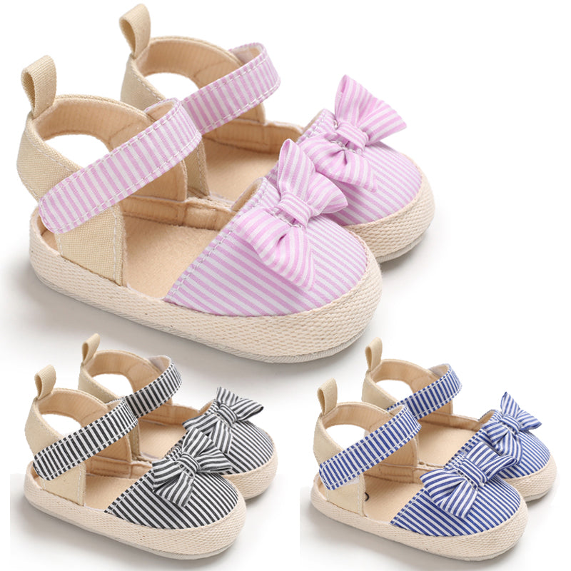 Baby Girl Soft Anti-Slip Shoes with Bow