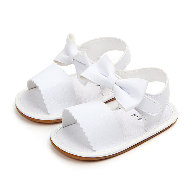 Baby Girls Bow-Tie Non-Slip Sandals