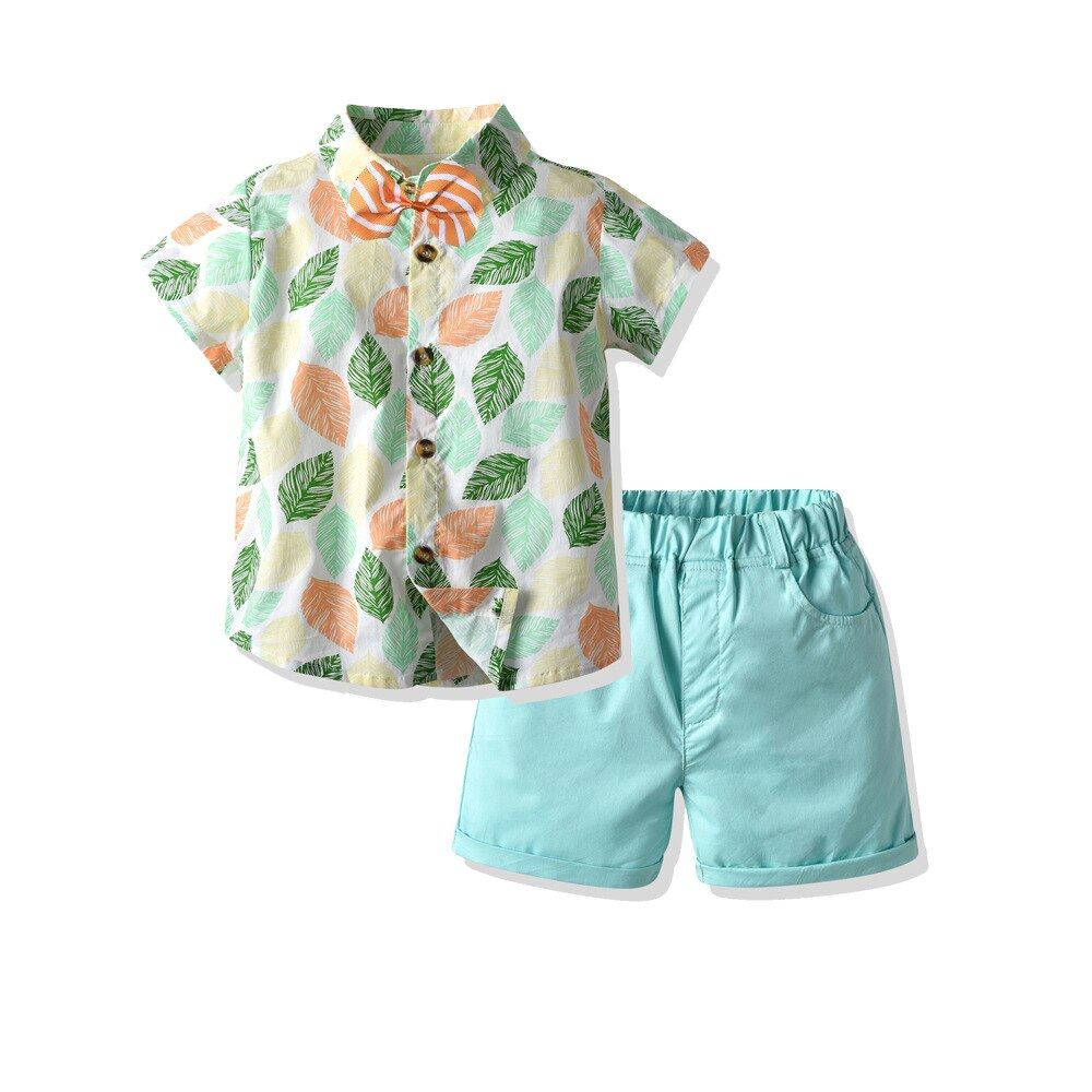 2-PCS Summer Boy's Tropical Beach Outfit
