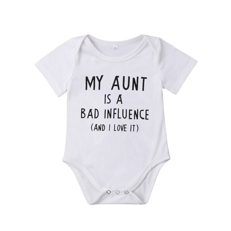 Baby Boy/Girl's Short Sleeve Printed Onesie