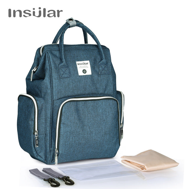 Stylish Multi-Functional Diaper Backpack, Large Size