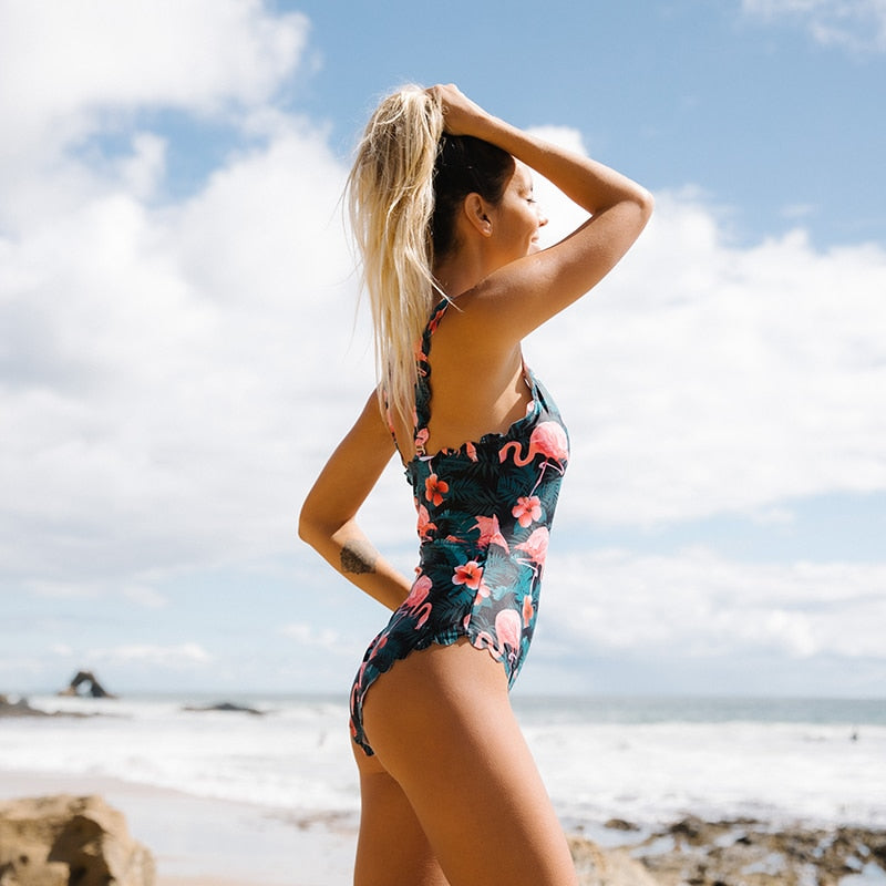 Women's One Piece Floral Swimsuit