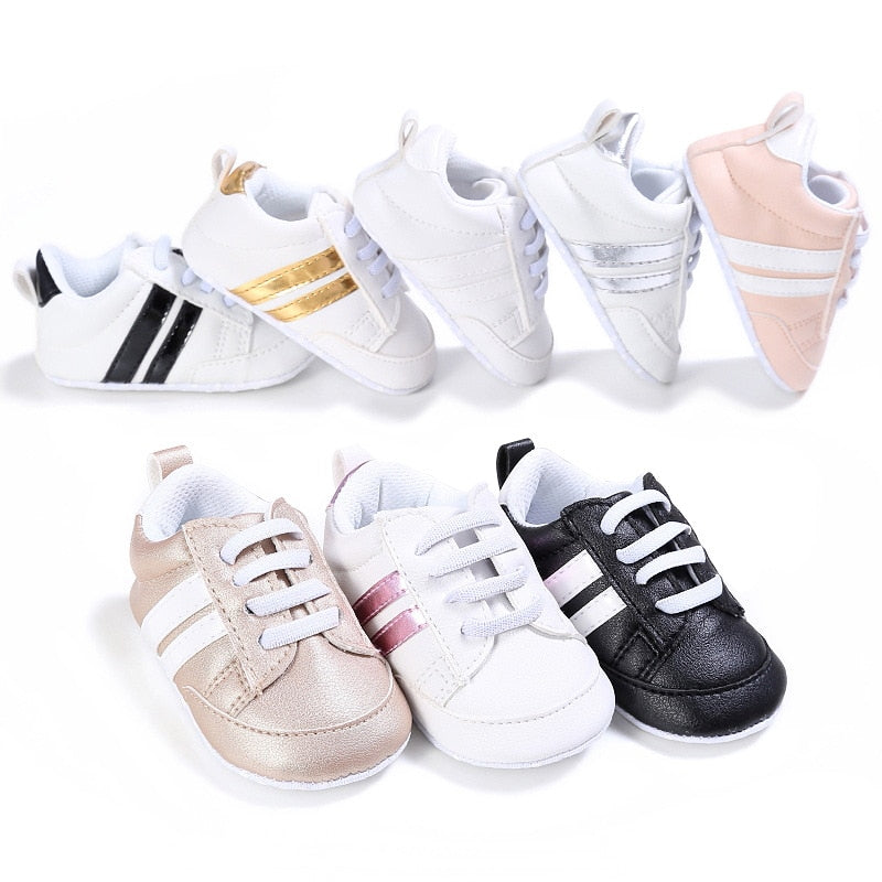 Baby's Sport Stripe Anti-Slip Sneakers