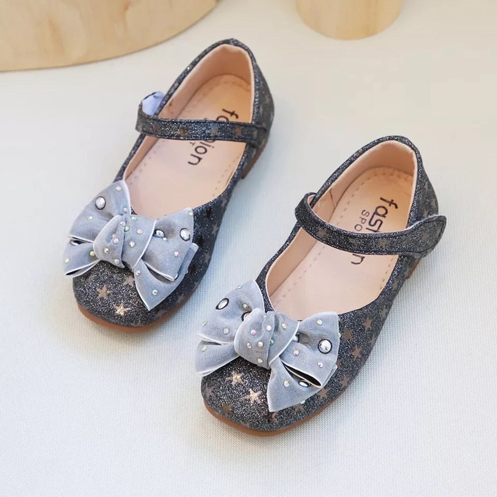 Girls Bowknot Flat Bottom Shoes