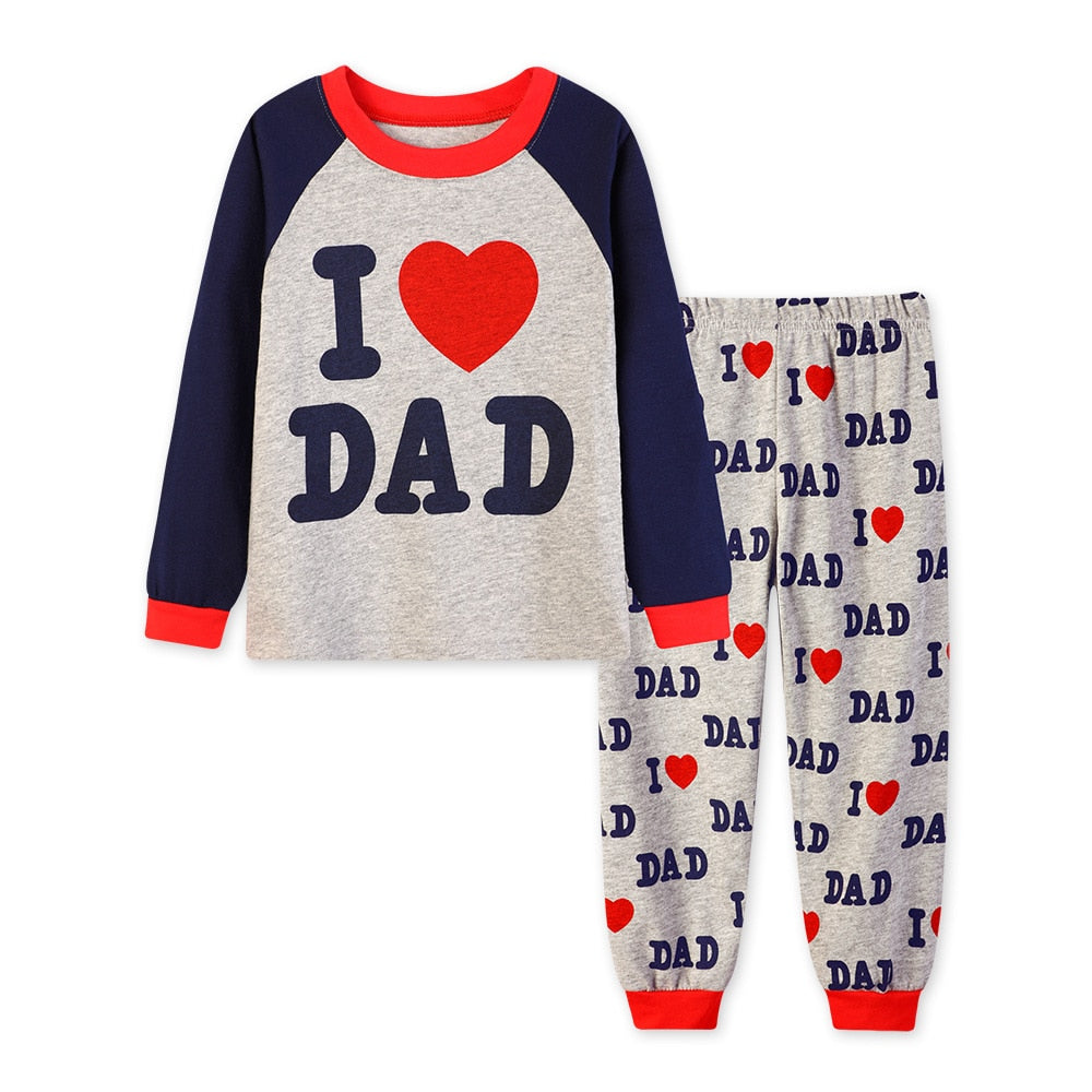 Baby Boy's/Girl's Long Sleeve 'I Love Dad & Mom' Outfit