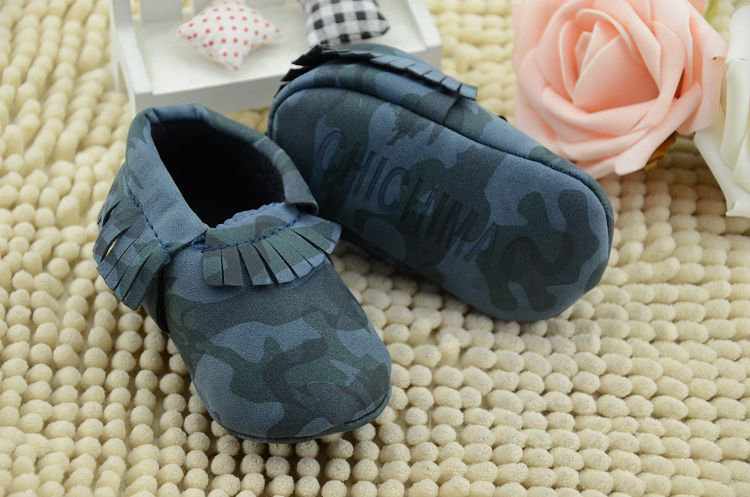 Baby's Soft Sole Camo Moccasin Slip-On Shoes