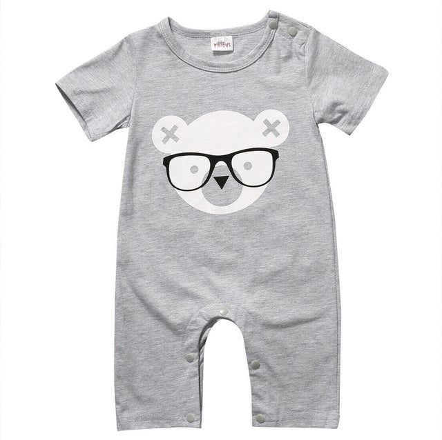 Cute Unisex Bear Romper For Baby & Toddler