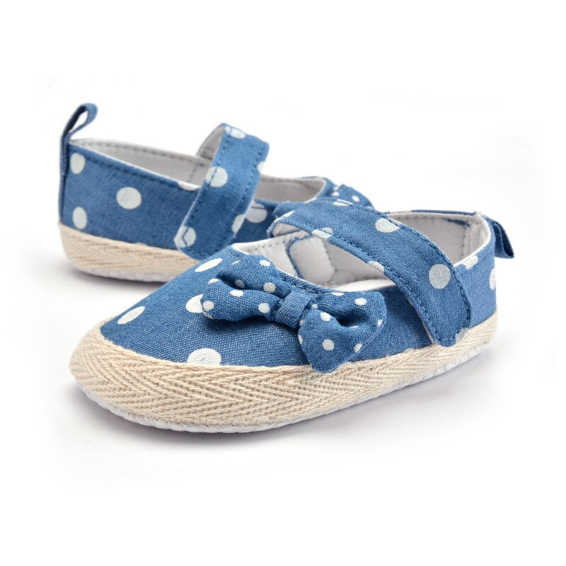First Walkers Polka Dot Bow Soft Sole Shoes