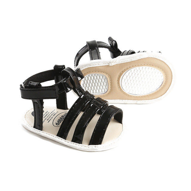 0-18M Girls Roma Weave Soft Sole Anti-Slip Sandals