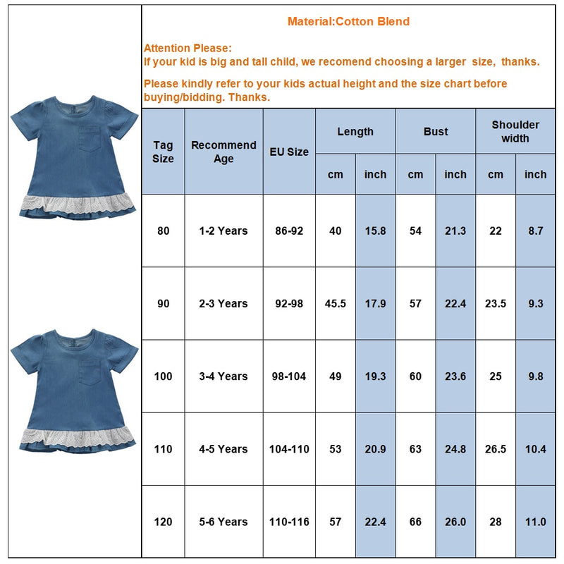 Girls' Summer Casual Solid Color Lace Dress