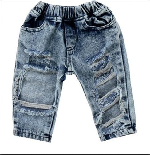 Girl's Fashion Ruffed Up Jeans