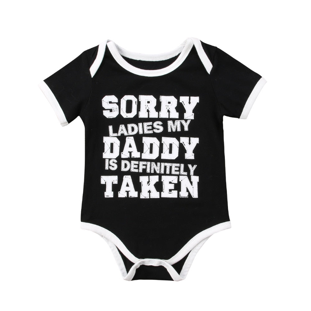Baby's 'My Daddy Is Taken' Printed Short Sleeve Onesie
