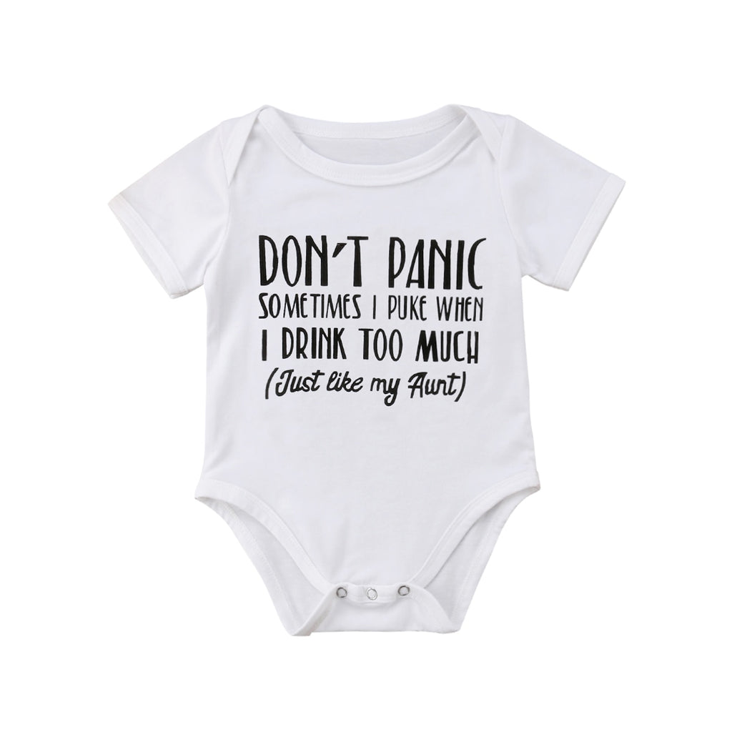 Baby Boy/Girl's Funny Print Cotton Onesie