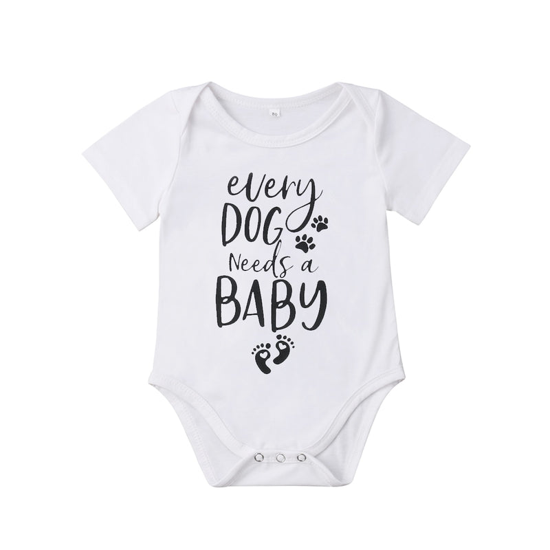 Baby Boys/Girls 'Every Dog Needs A Baby' Printed Onesie