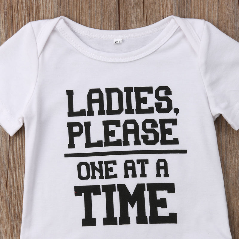 Baby Boys' 'Ladies Please One At A Time' Onesie