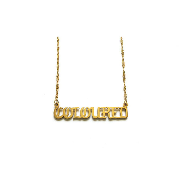 """COLOURED"" Nameplate Necklace"