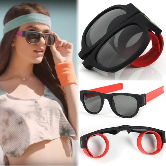 Slap-On Folding Wristband Sunglasses - RockyTrade.net